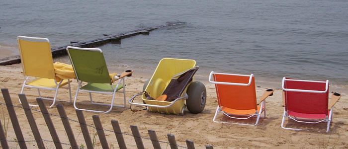 beach chairs at Cape Charles